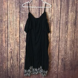 Womens Old Navy Black Sun Dress